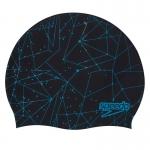 Шапочка для плавания Slogan print Cap au black/blue