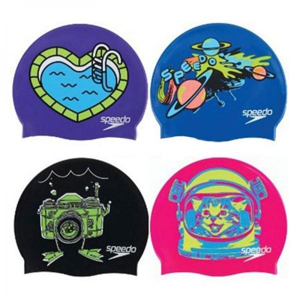 Шапочка для плавания детская Slogan Print Cap  Junior