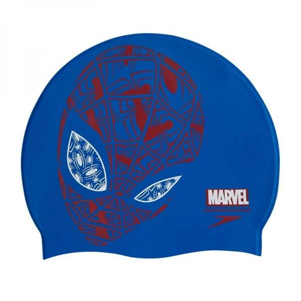 Шапочка для плавания Speedo SLOGAN PRT CAP JU BLUE/RED