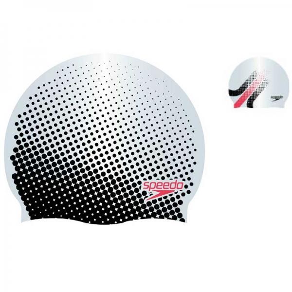 Шапочка для плавания Speedo REV MOUD SILC CAP AU SILVER/BLACK