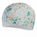 Шапочка для плавания Print long hair Cap af white/orange