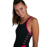 Купальник Speedo Boom Logo Spl Muscleback Af Black/Pink (8-12900B344)